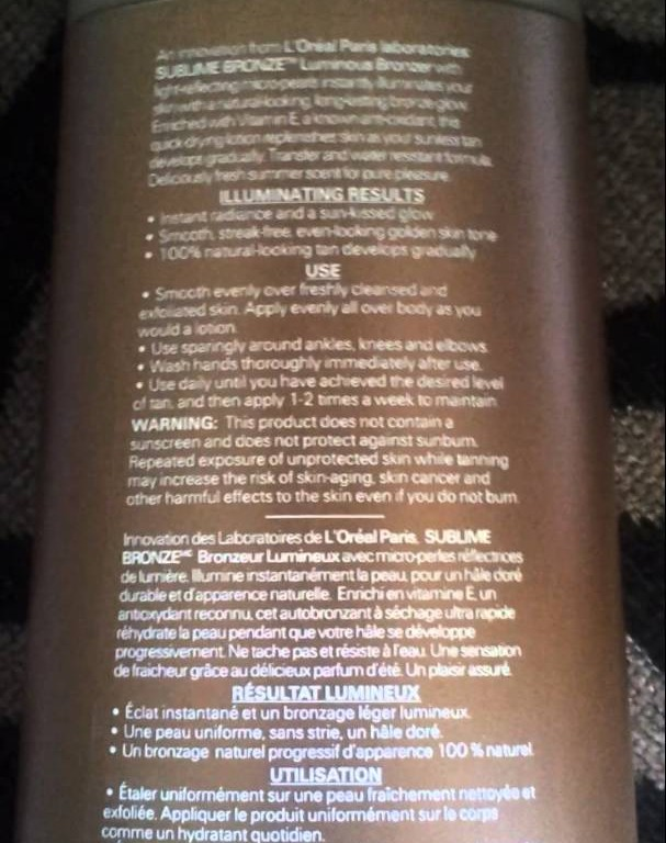 Loreal Self tanner review